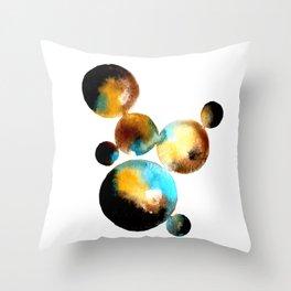 abstract watercolour circles Throw Pillow