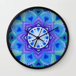 White Light Within Mandala Wall Clock