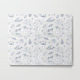The sea messenger / Pearl grey Metal Print