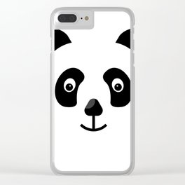 panda icon Clear iPhone Case