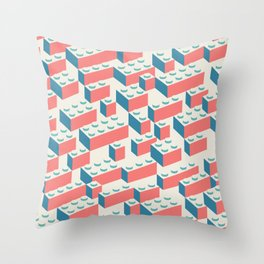 Building Blocks Pattern – Colour Throw Pillow