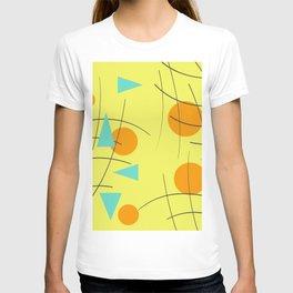 Fivties Design yellow geometric T-shirt