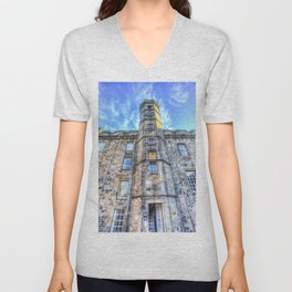 Edinburgh Castle Unisex V-Neck
