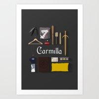 carmilla Art Prints featuring Carmilla Items by CLM Design