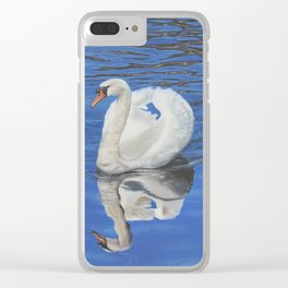 Swan Reflection Clear iPhone Case