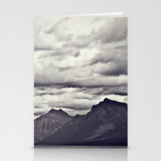 Mountain Lake Black and White Stationery Cards