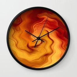 Fluid Heat Wall Clock