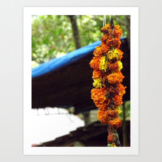 Indian Flowers Art Print