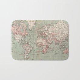 Vintage Map of The World (1918) Bath Mat