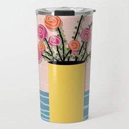 Roses in a Vase Travel Mug