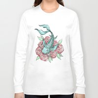 koi fish Long Sleeve T-shirts featuring Koi Fish by Bare Wolfe