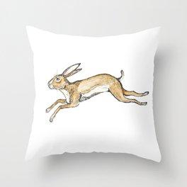 Spring rabbit Throw Pillow