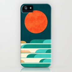 Chasing wave under the red moon iPhone (5, 5s) Slim Case