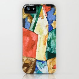 Abstraction: Blue, Yellow and Green by Marsden Hartley iPhone Case