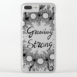 Growing Strong Clear iPhone Case