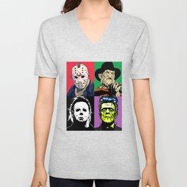 Horror Pop Art Unisex V-Neck