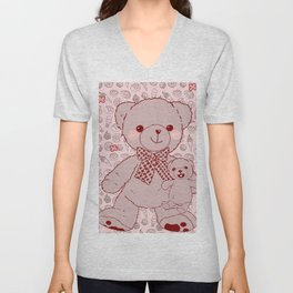 The Adventures of Bear and Baby Bear-Pastry2 Unisex V-Neck