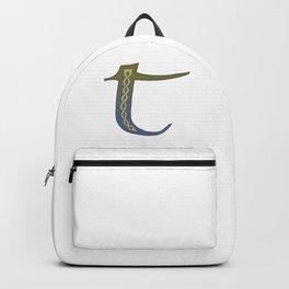 Celtic Knotwork Alphabet - Letter T Backpack