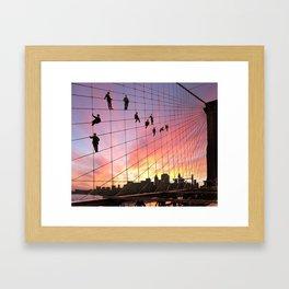 Brooklyn Bridge Painters Quitting Time Framed Art Print