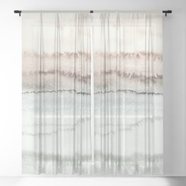 WITHIN THE TIDES NATURAL THREE by Monika Strigel Sheer Curtain