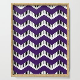 Chevron in the key of purple Serving Tray