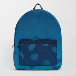 Ombre Blue Spots Hawaii Mermaid Backpack