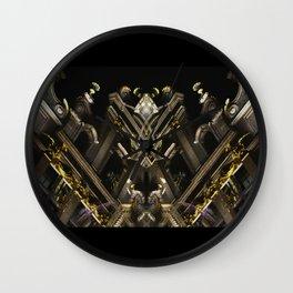 rorschach grand place brussels belgium Wall Clock
