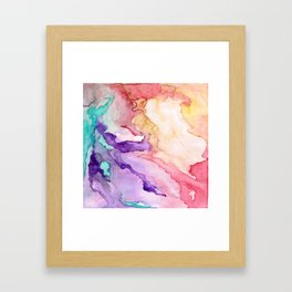 Color My World Watercolor Abstract Painting Framed Art Print