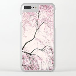 Pink branches Clear iPhone Case