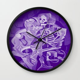 Halloween Skeleton Welcoming The Undead Wall Clock
