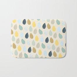 rain drops pattern Bath Mat
