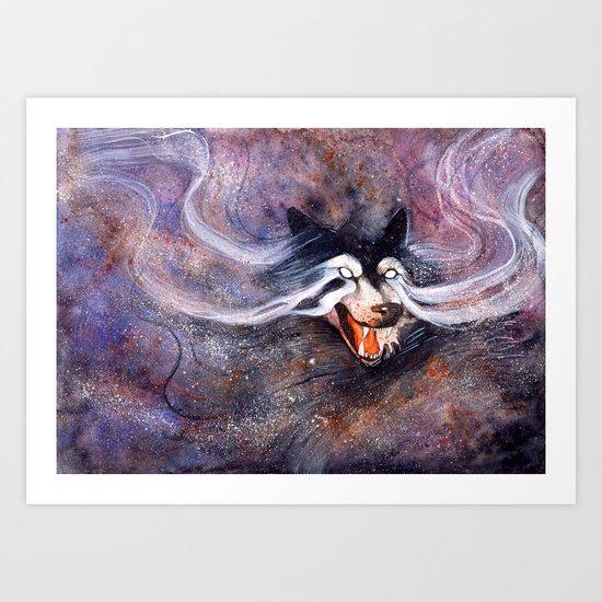 Borealis Wolf Art Print