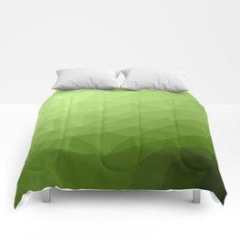 Greenery ombre gradient geometric mesh Comforters