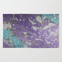Violet Velocity Water Marbling Rug