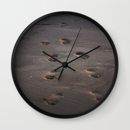 Burn In the Sand Wall Clock