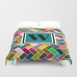 W Monogram Duvet Cover