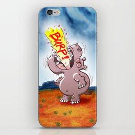 Hippopotamus Burping Loudly iPhone Skin