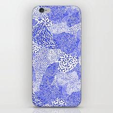 Blue sand iPhone Skin
