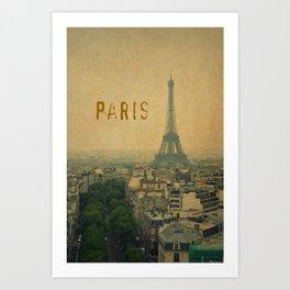 Paris, je t'aime... Art Print