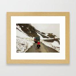 The Traveler - Across the mountains Framed Art Print