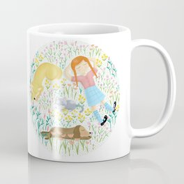 Summer Afternoon With Dogs, Cats And Clouds Coffee Mug