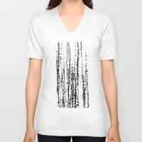 birch V-neck T-shirts featuring Birch Winter by Gréta Thórsdóttir