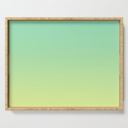 LAKE BY THE SEA - Minimal Plain Soft Mood Color Blend Prints Serving Tray