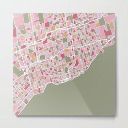 Toronto Map Art Metal Print