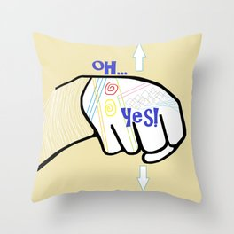 ASL Oh YES! Throw Pillow