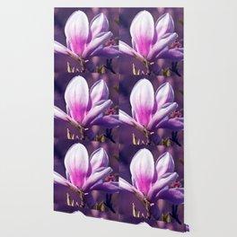 Ultra Violet Magnolia Wallpaper