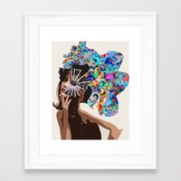jane davenport Framed Art Prints featuring Jane by Katy Hirschfeld