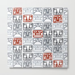 Primitive masks Metal Print