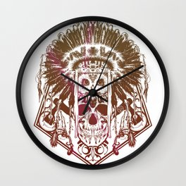 Indians Wall Clock