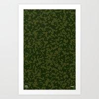 Comp Camouflage / Green Art Print